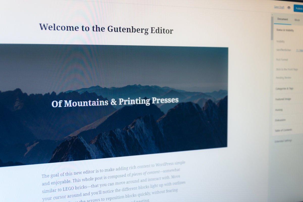 Gutenberg und die Page Builder in WordPress